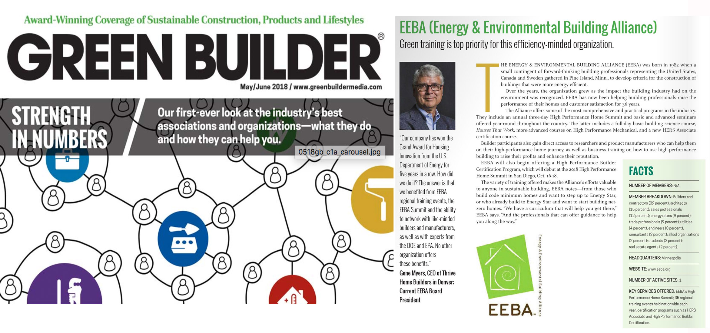 EEBA Named a Leading Industry Association